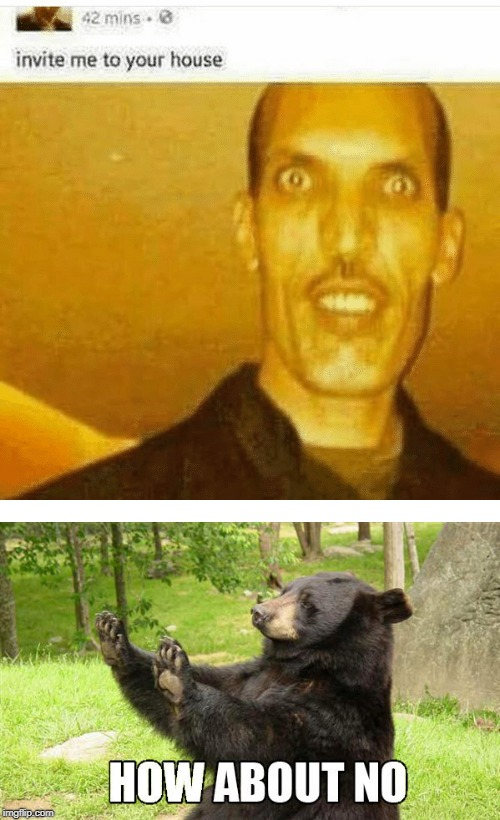 This guy looks terrifying!  | image tagged in memes,funny,facebook,scary,bear,no | made w/ Imgflip meme maker