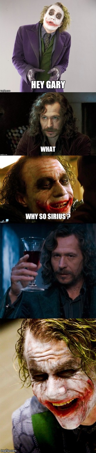 Joker Sirius black | image tagged in heath ledger,why so serious joker,sirius black,gary oldman,harry potter meme,joker meme | made w/ Imgflip meme maker