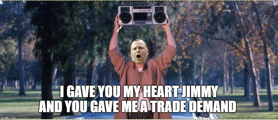 I GAVE YOU MY HEART JIMMY AND YOU GAVE ME A TRADE DEMAND | image tagged in coach thibs | made w/ Imgflip meme maker