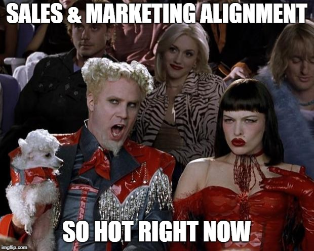 Mugatu So Hot Right Now Meme | SALES & MARKETING ALIGNMENT SO HOT RIGHT NOW | image tagged in memes,mugatu so hot right now | made w/ Imgflip meme maker