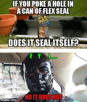 "#UPDATE flex seal ""self fix test""  