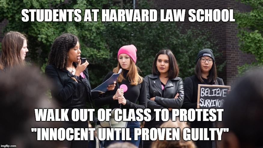 "Our liberties are doomed. I weep for our nation...  | STUDENTS AT HARVARD LAW SCHOOL ""INNOCENT UNTIL PROVEN GUILTY"" WALK OUT OF CLASS TO PROTEST 