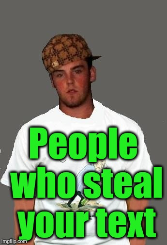 warmer season Scumbag Steve | People who steal your text | image tagged in warmer season scumbag steve | made w/ Imgflip meme maker