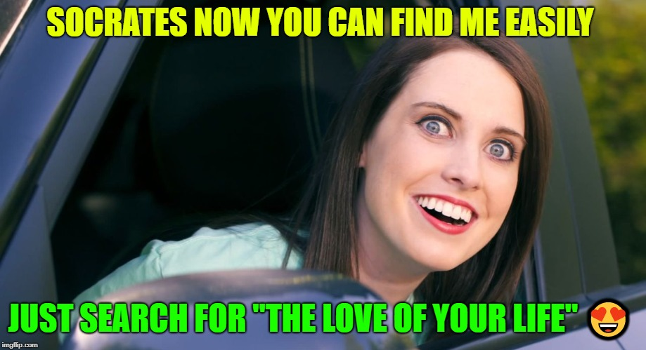 "OAG smiling in car craziness | SOCRATES NOW YOU CAN FIND ME EASILY JUST SEARCH FOR ""THE LOVE OF YOUR LIFE""  