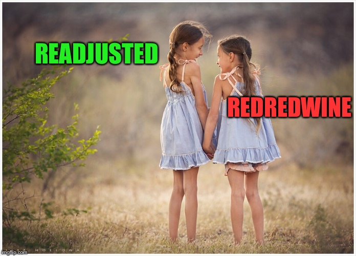 READJUSTED REDREDWINE | made w/ Imgflip meme maker