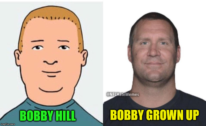 King of the Hill - Bobby Roethlisberger | BOBBY HILL BOBBY GROWN UP | image tagged in bobby hill,ben roethlisberger,memes,football | made w/ Imgflip meme maker