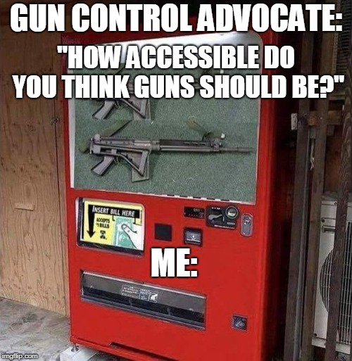 """How accessible do you think guns should be?""  