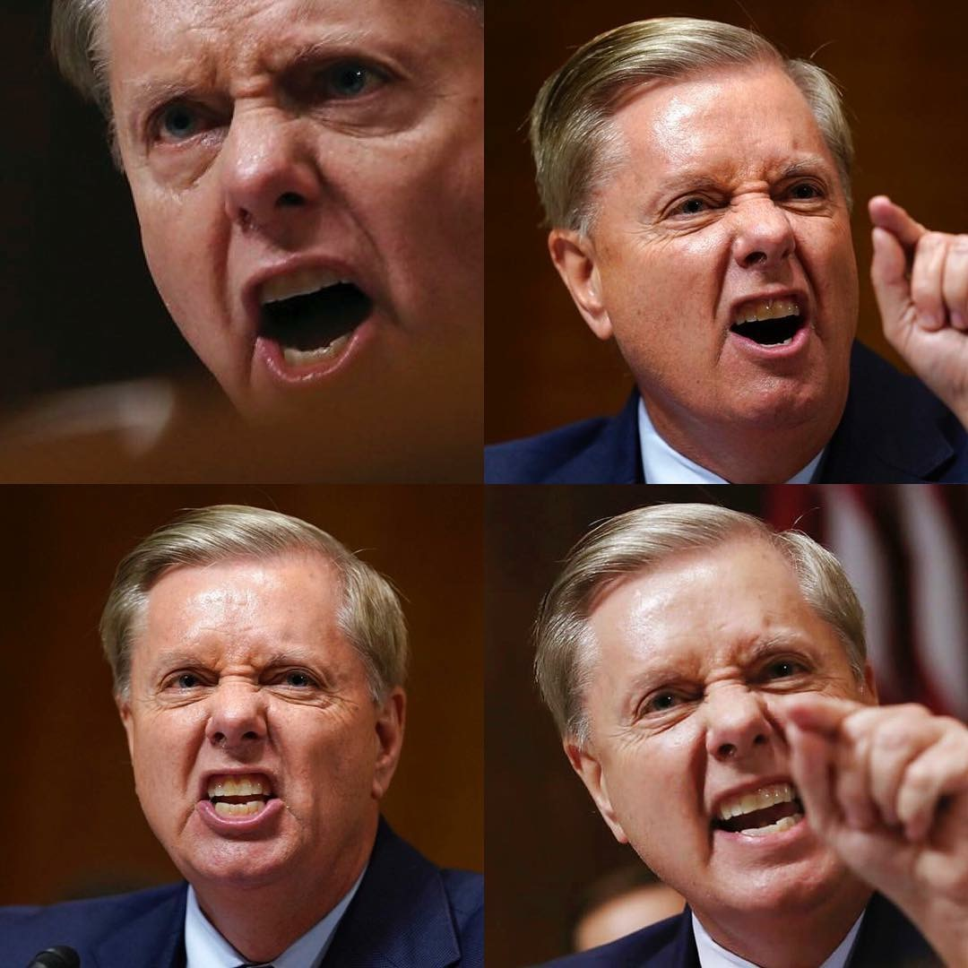Lindsey Graham angry face Meme Template