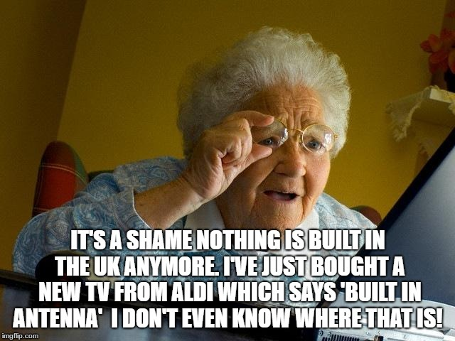 Every grandma ever | image tagged in old people,computers,tv | made w/ Imgflip meme maker