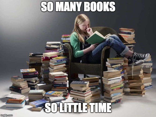 Image result for so many books so little time gif