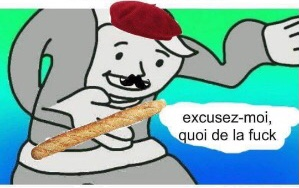 High Quality excuse me what the fuck? (French version) Blank Meme Template