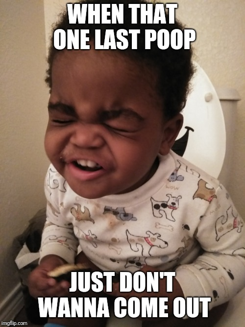 Poopsaster   | WHEN THAT ONE LAST POOP JUST DON'T WANNA COME OUT | image tagged in the struggle,potty humor,baby meme | made w/ Imgflip meme maker