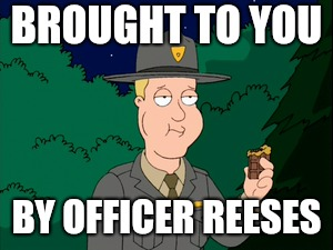 BROUGHT TO YOU BY OFFICER REESES | made w/ Imgflip meme maker