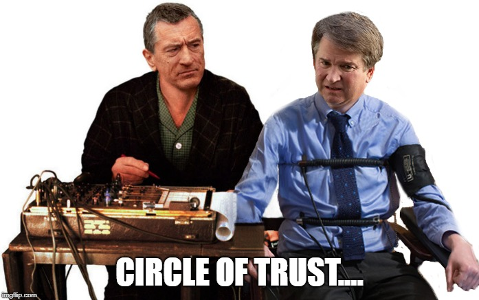 CIRCLE OF TRUST | CIRCLE OF TRUST.... | image tagged in brett kavanaugh,lies,robert de niro,movie quotes | made w/ Imgflip meme maker