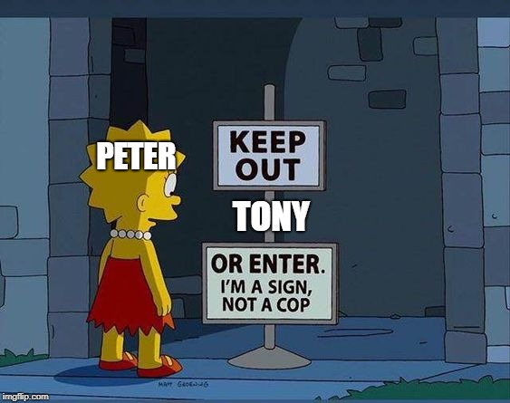 PETER TONY | image tagged in mcu,marvel,spiderman,memes,cartoon | made w/ Imgflip meme maker