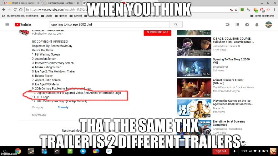 Wow, just wow. | WHEN YOU THINK THAT THE SAME THX TRAILER IS 2 DIFFERENT TRAILERS | image tagged in thx,certifed,meme | made w/ Imgflip meme maker