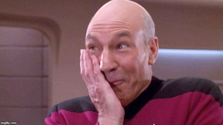 picard grin | . | image tagged in picard grin | made w/ Imgflip meme maker
