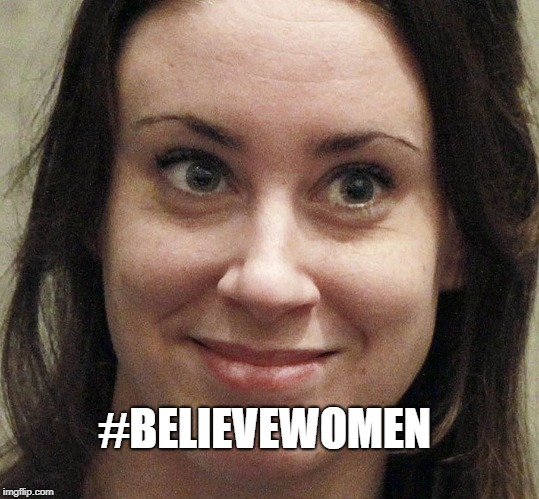 To Believe Or  Not To Believe | #BELIEVEWOMEN | image tagged in believewomen,politics lol,triggered,funny,brett kavanaugh,parody | made w/ Imgflip meme maker