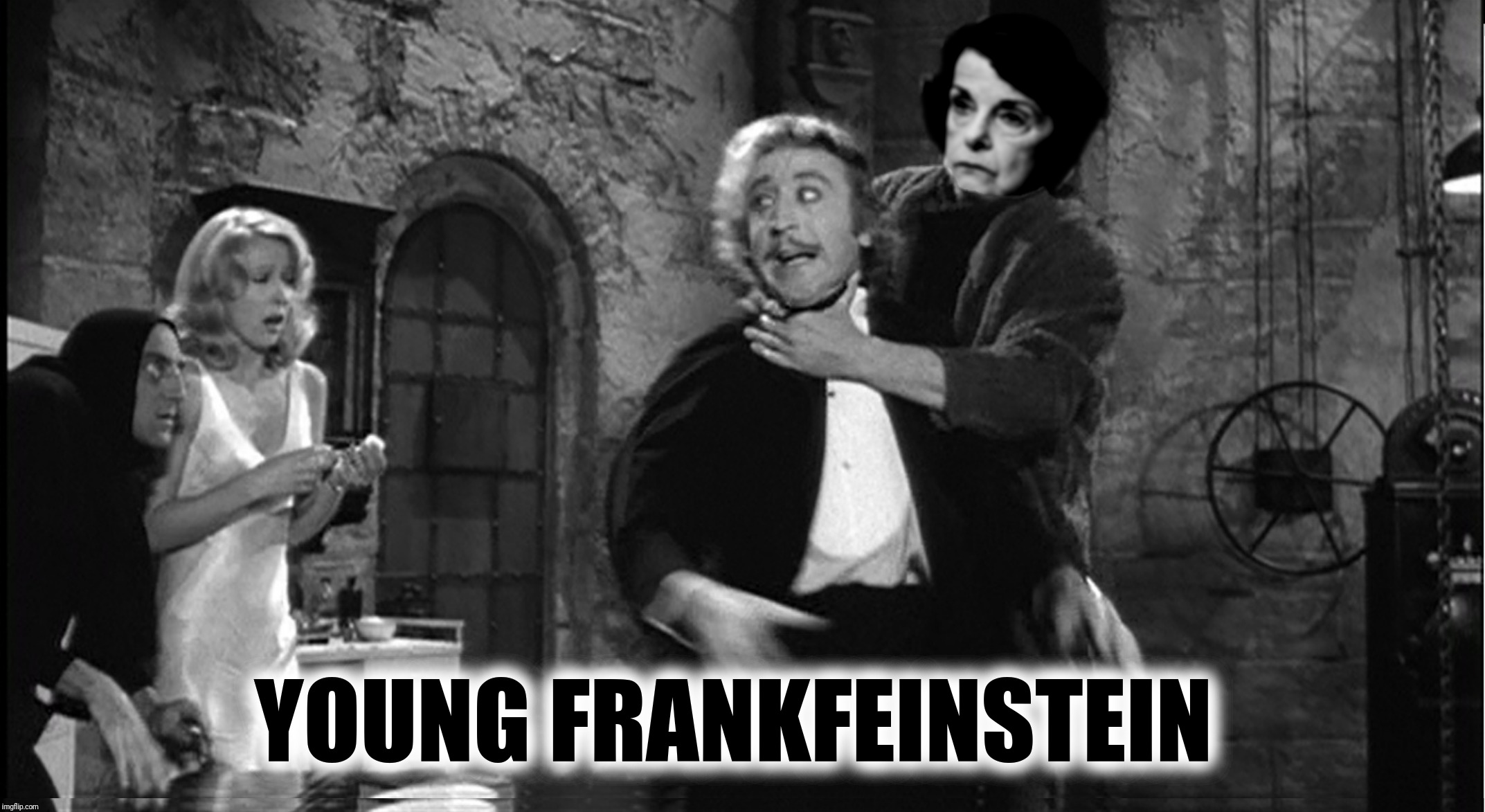 Bad Photoshop Sunday present:  That's FronkFeinsteen! | YOUNG FRANKFEINSTEIN | image tagged in bad photoshop sunday,young frankenstein,dianne feinstein | made w/ Imgflip meme maker