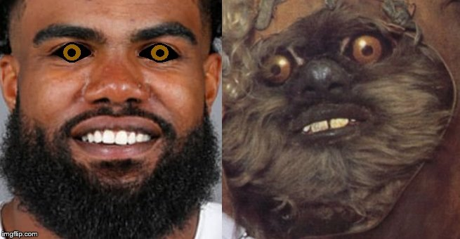 Ezekiel Wicket Elliott  | image tagged in ewok | made w/ Imgflip meme maker
