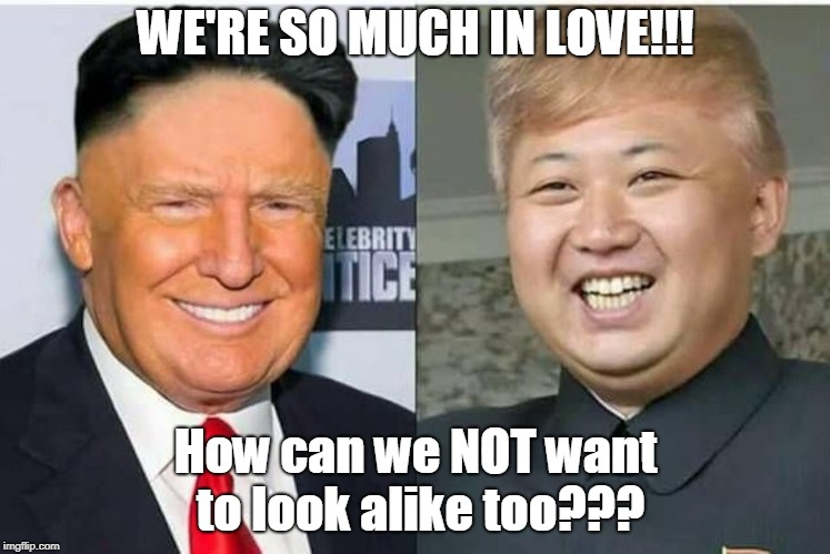 We're in love! | WE'RE SO MUCH IN LOVE!!! How can we NOT want to look alike too??? | image tagged in bad hair day | made w/ Imgflip meme maker