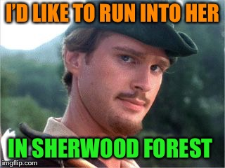 I'D LIKE TO RUN INTO HER IN SHERWOOD FOREST | made w/ Imgflip meme maker