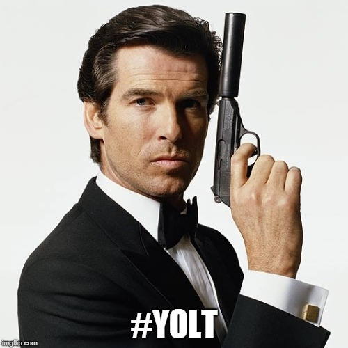 Not your average hashtag.... | #YOLT | image tagged in 007,yolo,bond james bond | made w/ Imgflip meme maker