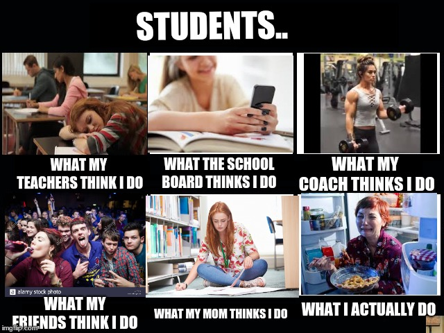 What my friends think i do imgflip what my friends think i do students what the school board thinks i maxwellsz