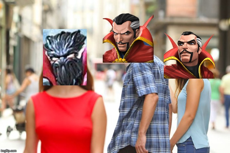 MCoC Meme: Doctor Stranger things | image tagged in memes,distracted boyfriend,mcoc,doctor strange,symbiote supreme | made w/ Imgflip meme maker