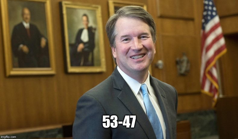 Brett Kavanaugh | 53-47 | image tagged in brett kavanaugh | made w/ Imgflip meme maker