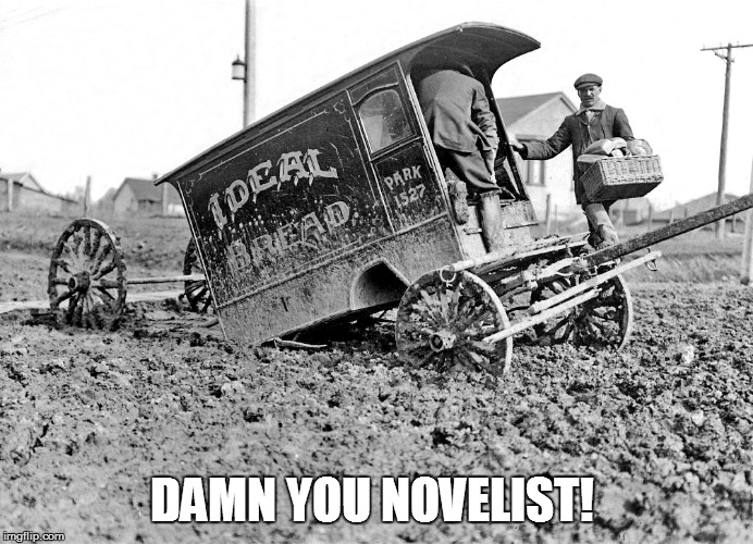 DAMN YOU NOVELIST! | made w/ Imgflip meme maker