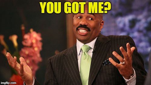 Steve Harvey Meme | YOU GOT ME? | image tagged in memes,steve harvey | made w/ Imgflip meme maker