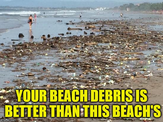 YOUR BEACH DEBRIS IS BETTER THAN THIS BEACH'S | made w/ Imgflip meme maker