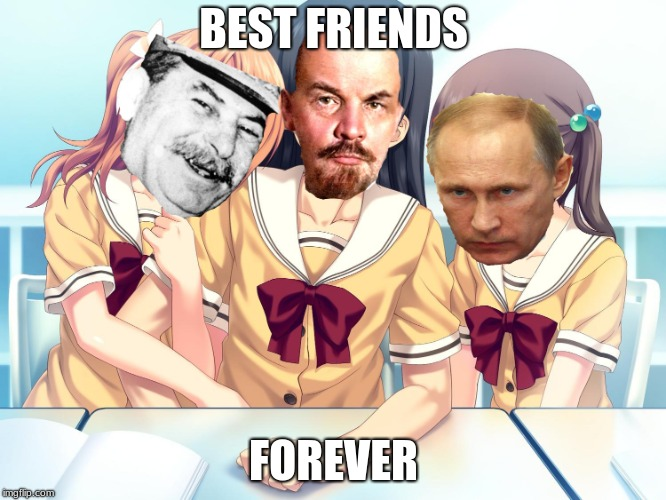 motherrussia |  BEST FRIENDS; FOREVER | image tagged in russia,anime | made w/ Imgflip meme maker