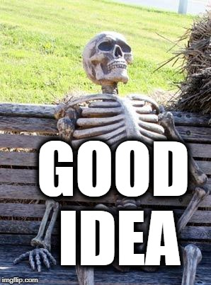 Waiting Skeleton Meme | GOOD IDEA | image tagged in memes,waiting skeleton | made w/ Imgflip meme maker