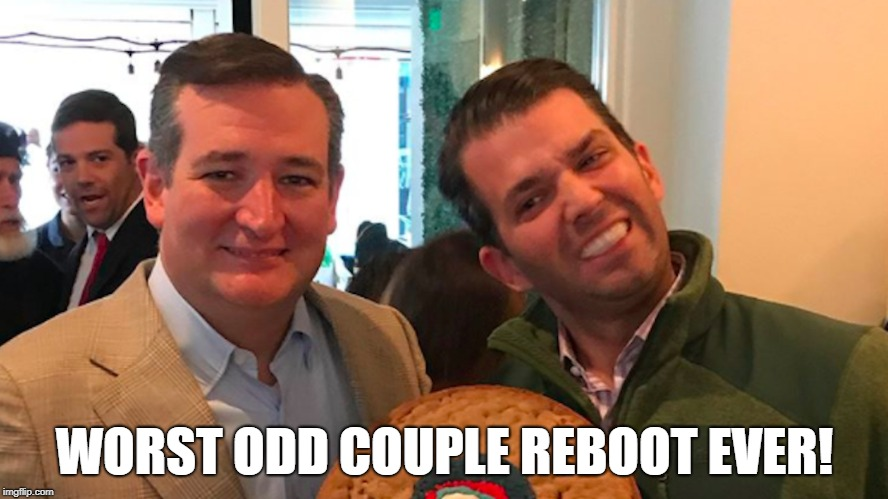 WORST ODD COUPLE REBOOT EVER! | image tagged in trump jr | made w/ Imgflip meme maker