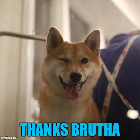 THANKS BRUTHA | made w/ Imgflip meme maker