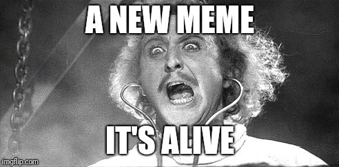 It's alive! | A NEW MEME IT'S ALIVE | image tagged in it's alive | made w/ Imgflip meme maker