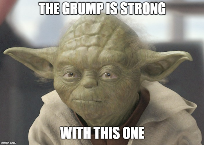 The __ is strong with this one | THE GRUMP IS STRONG WITH THIS ONE | image tagged in the __ is strong with this one | made w/ Imgflip meme maker