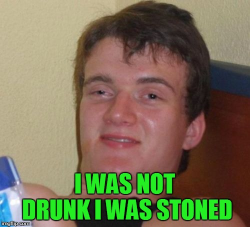 10 Guy Meme | I WAS NOT DRUNK I WAS STONED | image tagged in memes,10 guy | made w/ Imgflip meme maker
