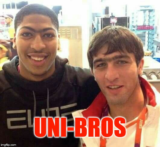 UNI-BROS | image tagged in unibrow | made w/ Imgflip meme maker