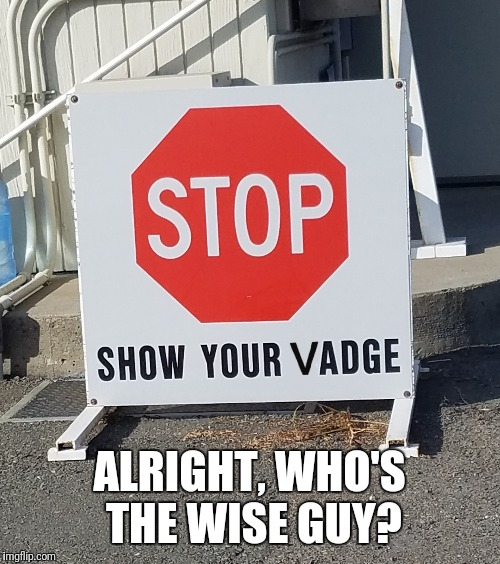 Who's the wise guy | ALRIGHT, WHO'S THE WISE GUY? | image tagged in silly,warning sign,warning | made w/ Imgflip meme maker