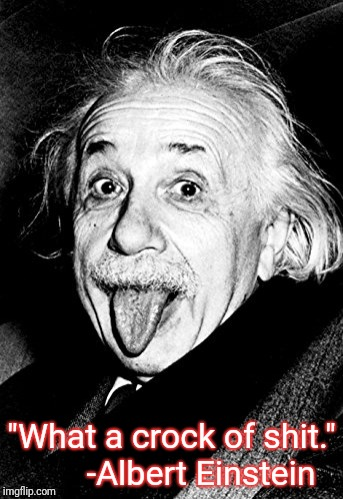 "Genius | ""What a crock of shit.""       -Albert Einstein 
