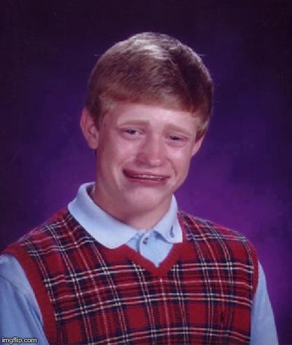 Bad Luck Brian Cry | . | image tagged in bad luck brian cry | made w/ Imgflip meme maker