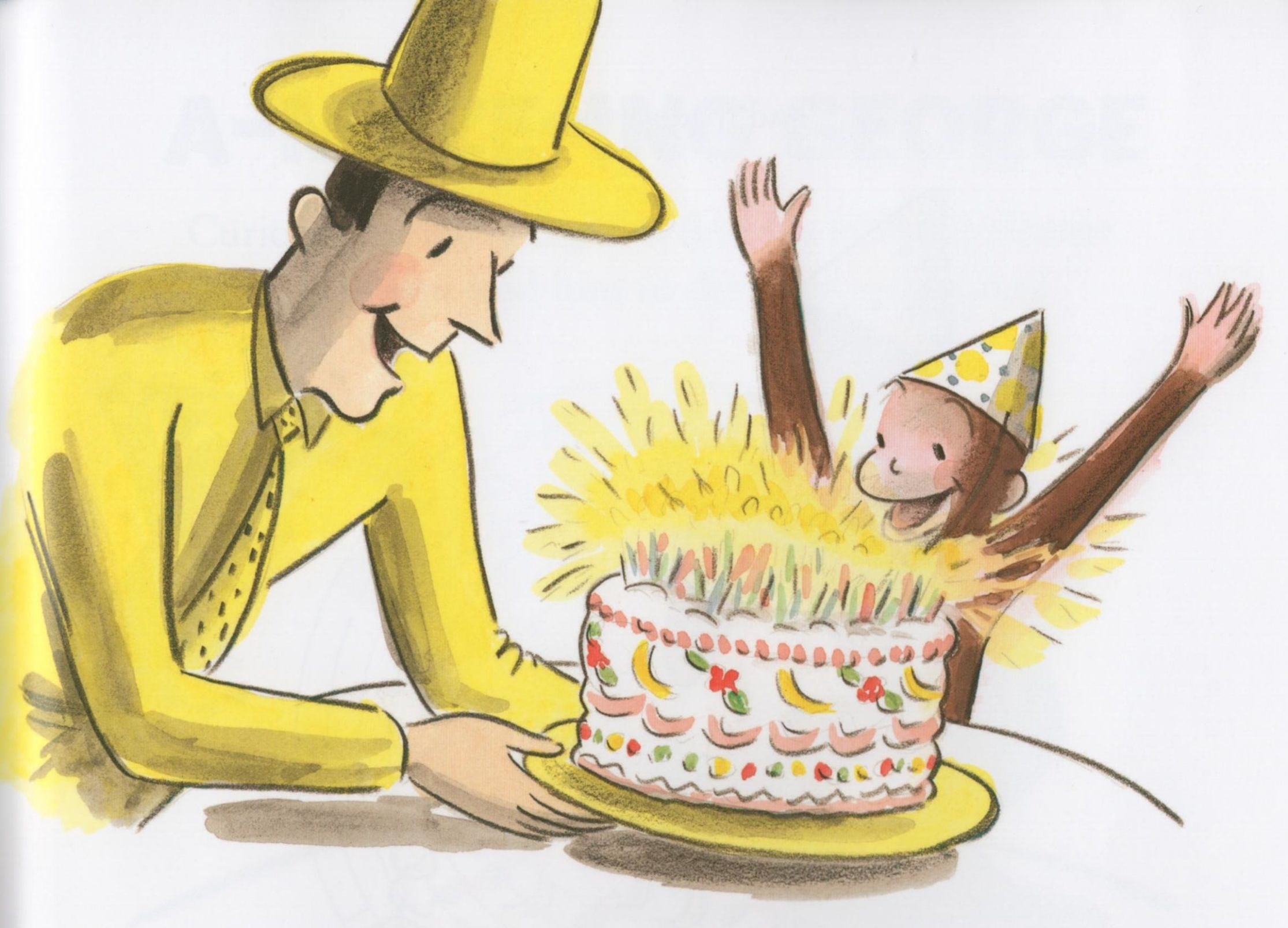 Curious George Cake Blank Template Imgflip