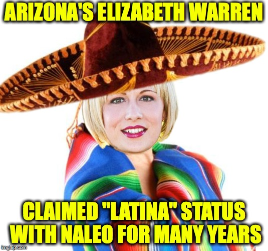"Arizona's ""Elizabeth Warren"" Kyrsten Sinema Claimed She was Latina for Years for NALEO to receive scholarship, donations, etc..  