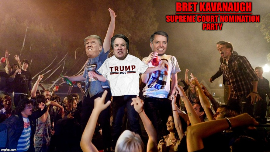 image tagged in brett kavanaugh,donald trump | made w/ Imgflip meme maker