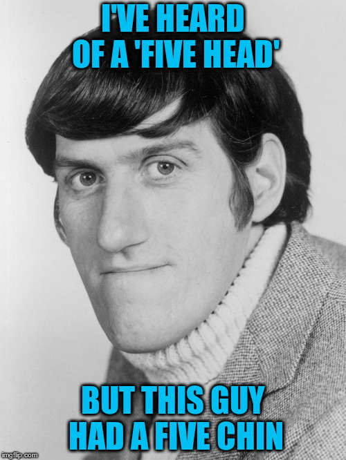 I'VE HEARD OF A 'FIVE HEAD' BUT THIS GUY HAD A FIVE CHIN | made w/ Imgflip meme maker