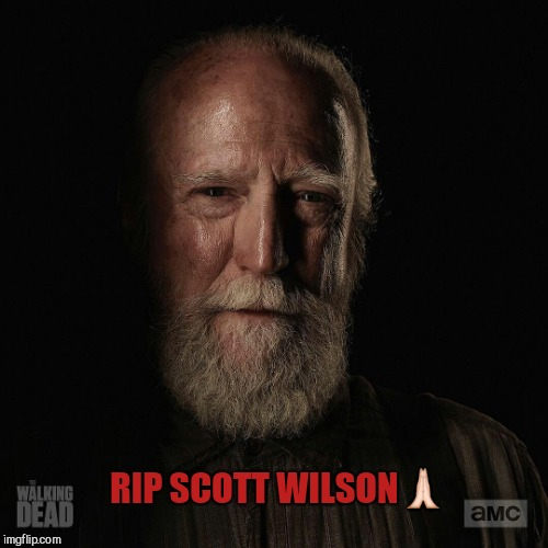 RIP SCOTT WILSON | image tagged in scott wilson rip | made w/ Imgflip meme maker