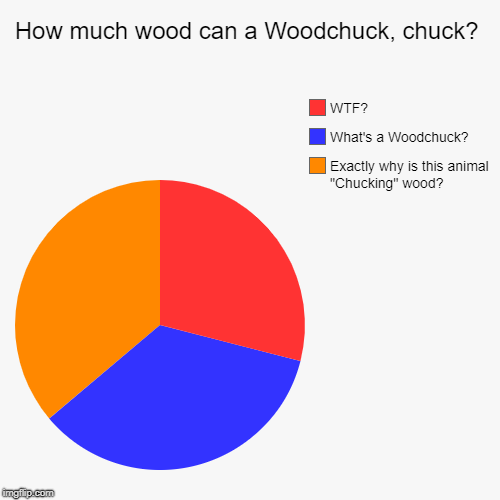 "Ever Wonder? | How much wood can a Woodchuck, chuck? | Exactly why is this animal ""Chucking"" wood?, What's a Woodchuck?, WTF? 